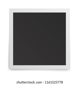 Realistic old photo frame isolated on white background. 3D illustration.