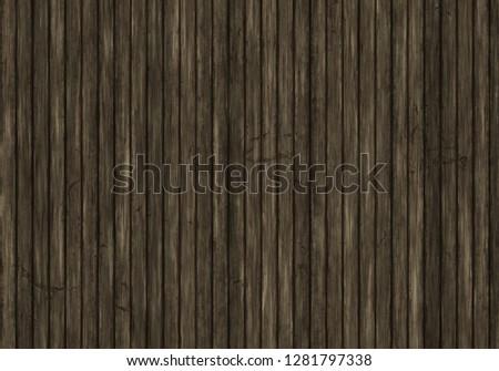 Wandplank Retro Cubes.Realistic Old Wooden Damage Floor Plank Stock Illustration