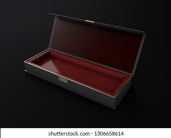 Realistic Open And Closed Blank Packaging Boxes. 3d Illustration