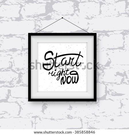 Realistic Photo Frame Handwritten Phrase Cool Stock Illustration ...