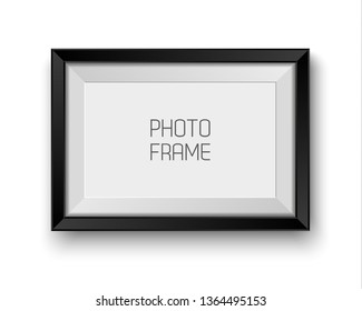 Realistic picture frame isolated on white background with blank space for your photo