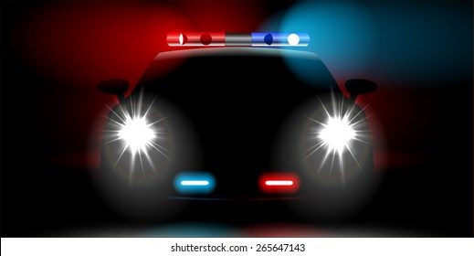 realistic police car front view
