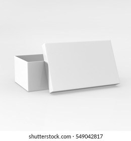 Realistic Rendering Of  Shoe Box 3D Illustration With White Background