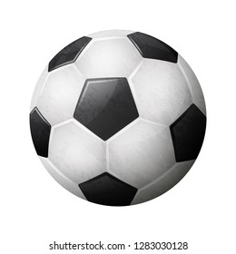 Realistic soccer ball illustration on white background