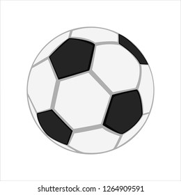 Realistic soccer ball. Isolated on white background.