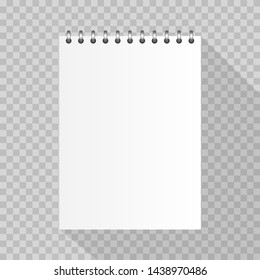 Realistic spiral notebook template for your design.