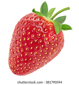 Realistic  strawberry garden  white background with clipping path. Premium design element design packaging.