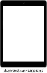 Realistic tablet computer with blank screen on transparent background.set of modern tablet and mobile phone  isolated - vector