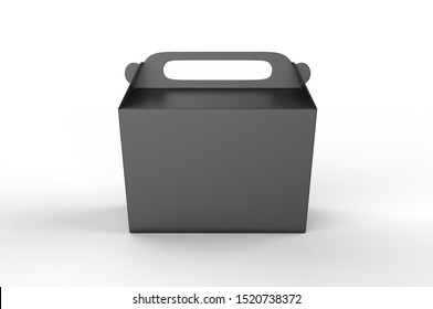 Realistic take away food box mock up set isolated on white background 3d render illustration.