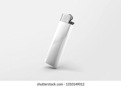 Realistic Template Blank White Lighter Mock Up. 3D rendering