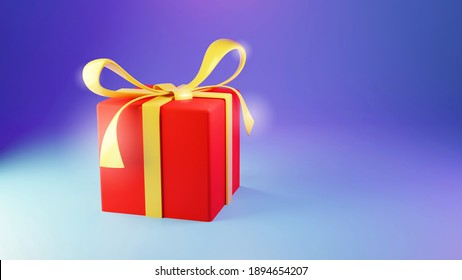 Realistic vector gift presents. Christmas golden gifts with gold ribbon and bow. 3d rendering  illustration of an Isolated modern gift box