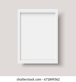 Realistic vertical blank picture frame