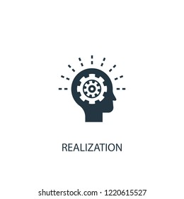 realization icon. Simple element illustration. realization concept symbol design. Can be used for web and mobile.