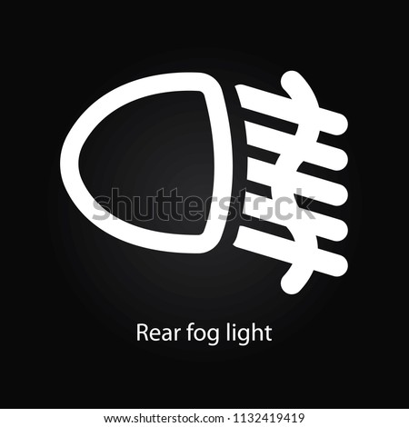 Royalty Free Stock Illustration Of Rear Fog Light Warning Symbol
