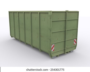 rear view dumpster container