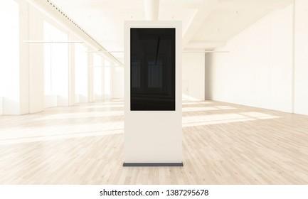 reatil store display 3d rendering mockup