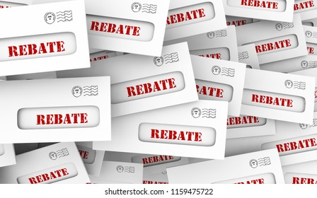 Rebate Get Money Back Tax Return Envelope 3d Illustration