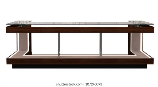 reception counter isolated on white