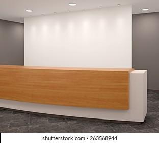 Reception in modern office.3d render.