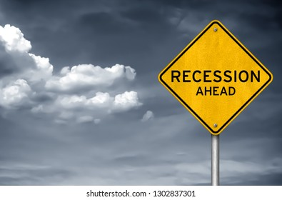 Rezession voraus - Warnkonzept für Straßenschilder