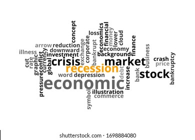 Recession in word collage concept