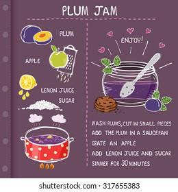 Recipe for plum home-made jam
