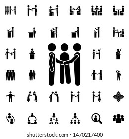To reconcile two people icon. Universal set of conversation for website design and development, app development
