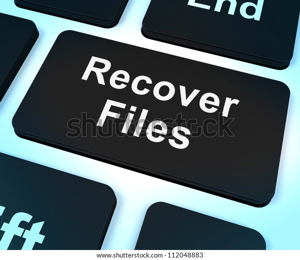 Recover Files Key Showing Restoring From Backup