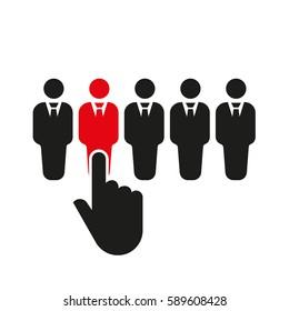 Recruitment icon. Staff selection symbol. Flat design. Stock -  illustration
