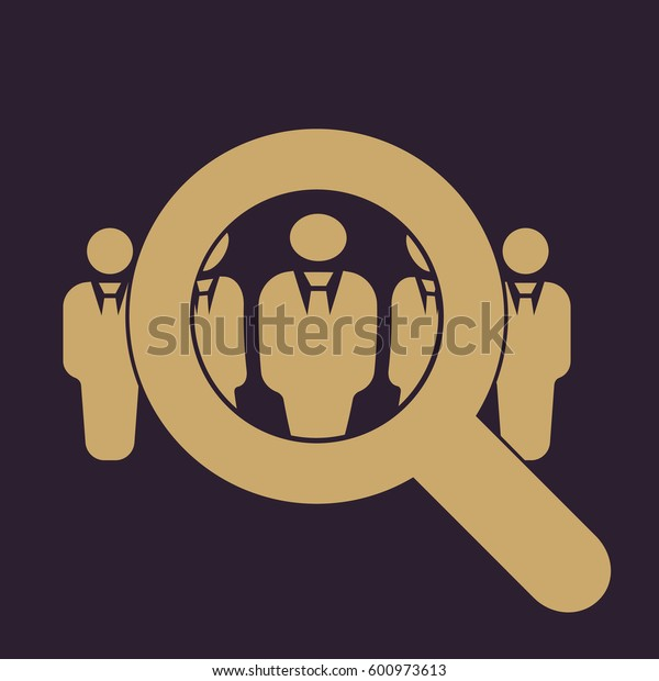 Recruitment icon. Staff selection symbol. Flat design. Stock -  illustration