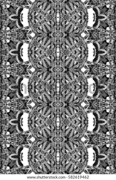 Rectangle black and white vertical pattern for textile, design and backgrounds