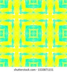 Rectangle Pattern. Drawn by Hand Background. Watercolour Quadrangle Swimwear Design. Abstract Geometric Print. Seamless Watercolor Rectangle Pattern.