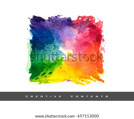 Rectangular Color Wheel Creative Content Cover Stock Illustration