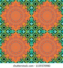 Rectangular pattern for your business design. Geometric background in Origami style with gradient. Green, black and orange polygonal illustration, which consist of rectangles.