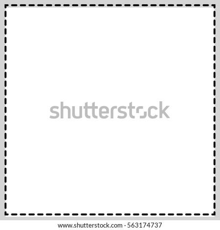 Rectangular Square Photo Frame Newspaper Classified Stock ...