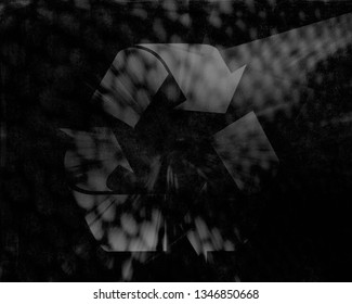 Recycle Abstract shining shiny lights background