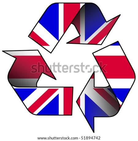 Recycle Logo Containing Uk Flag Stock Illustration 51894742
