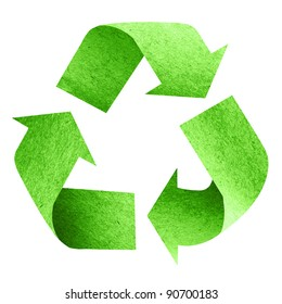 Recycle Logo with old paper
