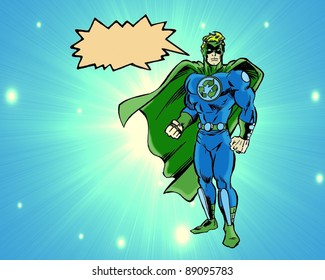 A recycle super hero
