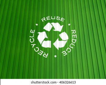 Recycle Symbol with 3R Text on a Container Background | 3D Illustration