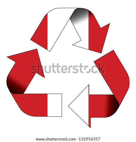 Recycle Symbol Flag Peru Stock Illustration 132956357 Shutterstock