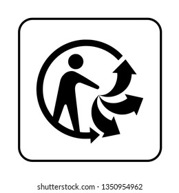 Recycle triman sign