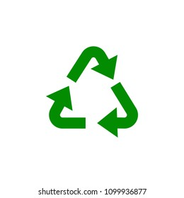 recycling mark green icon. Element of nature protection icon for mobile concept and web apps. Isolated recycling mark icon can be used for web and mobile on white background