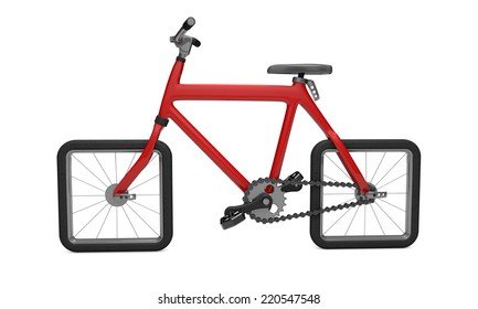 Red 3d bike impossibility movement problem solution