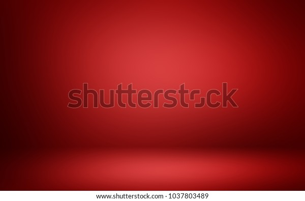 Red 3D room. Background