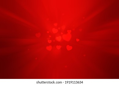 red abstract background of heart shape.