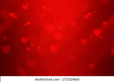 red abstract heart shape background for valentine and Christmas.