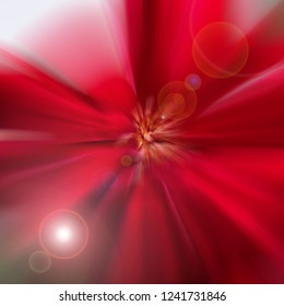 Red Abstract Zoom Motion background, Abstract Background of colorful light, Red background light that ejects from the center.