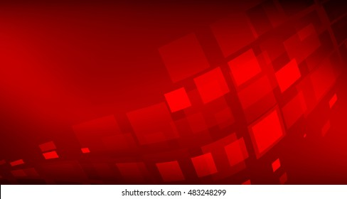 Red Background abstract with lighting lines digital concept