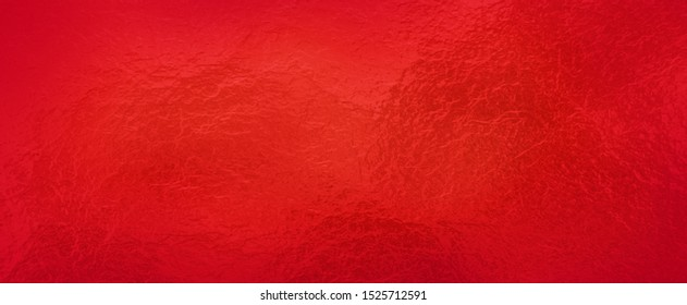 Red background foil texture, abstract Christmas holiday color paper with shiny crackled textured design